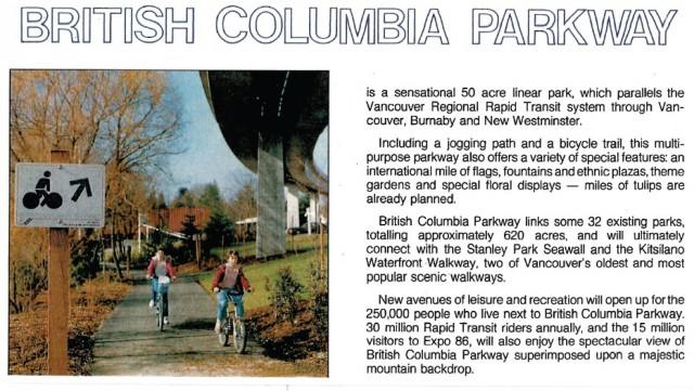 BC Parkway brochure