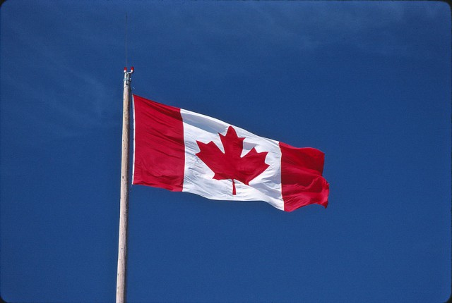 Flag in Vanier Park, Vancouver - Courtesy of I am I.A.M.