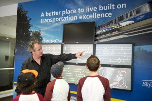Campers at SkyTrain Operations got a look at how the SkyTrain runs