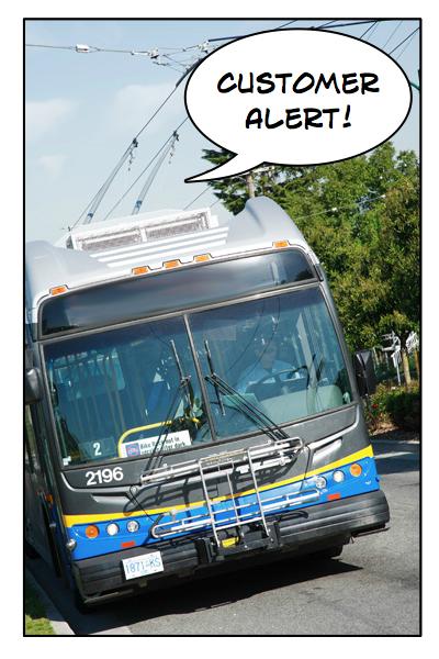 Customer Alert generic bus