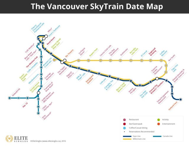 Valentine's Day may be over for another year but check out this SkyTrain dating map from Elite Singles!