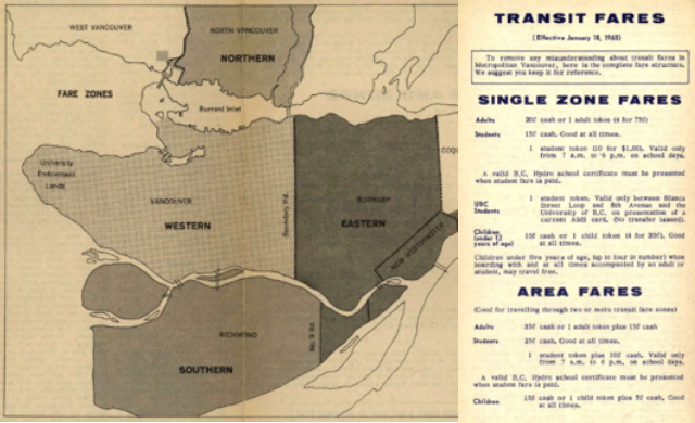 1965: A 4-zone system is introduced with only 2 fare options: valid for a single zone or the entire area