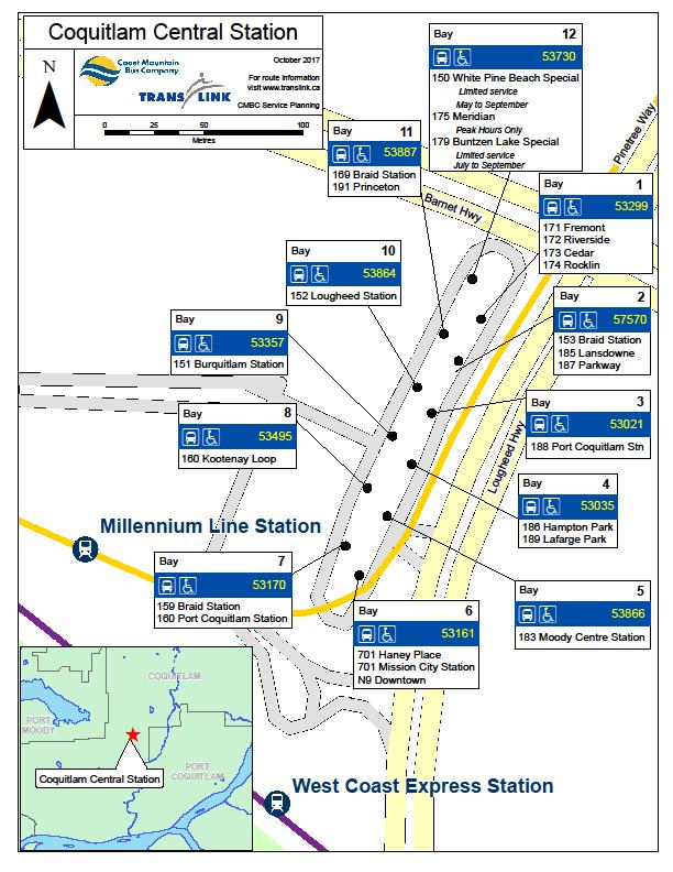 Coquitlam Centre Bus Bay Moves