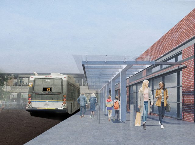 Bus Shelter For The 99 B Line Coming To Commercial Broadway Station