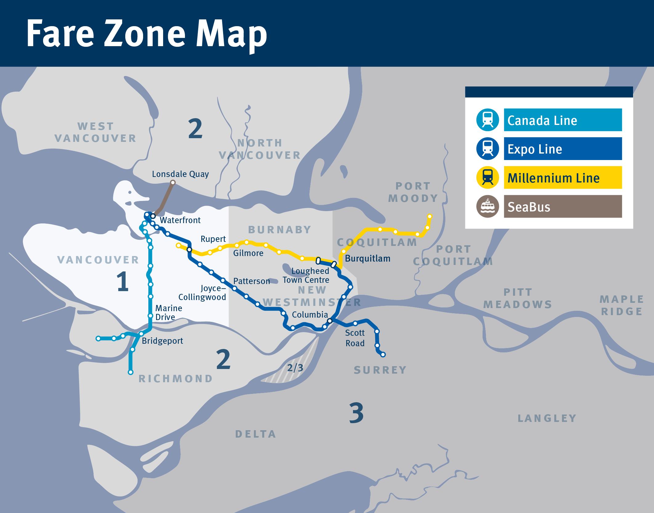 Map Of Canada Line Vancouver.The Buzzer Blog Zone Map Small