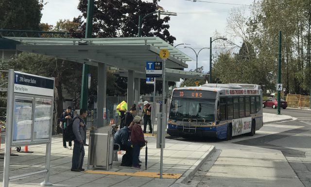 UBC Bus at 29th Avenue Station