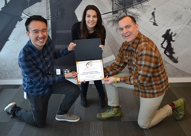 The TransLink Social Media Team and their APTA AdWheel Award!