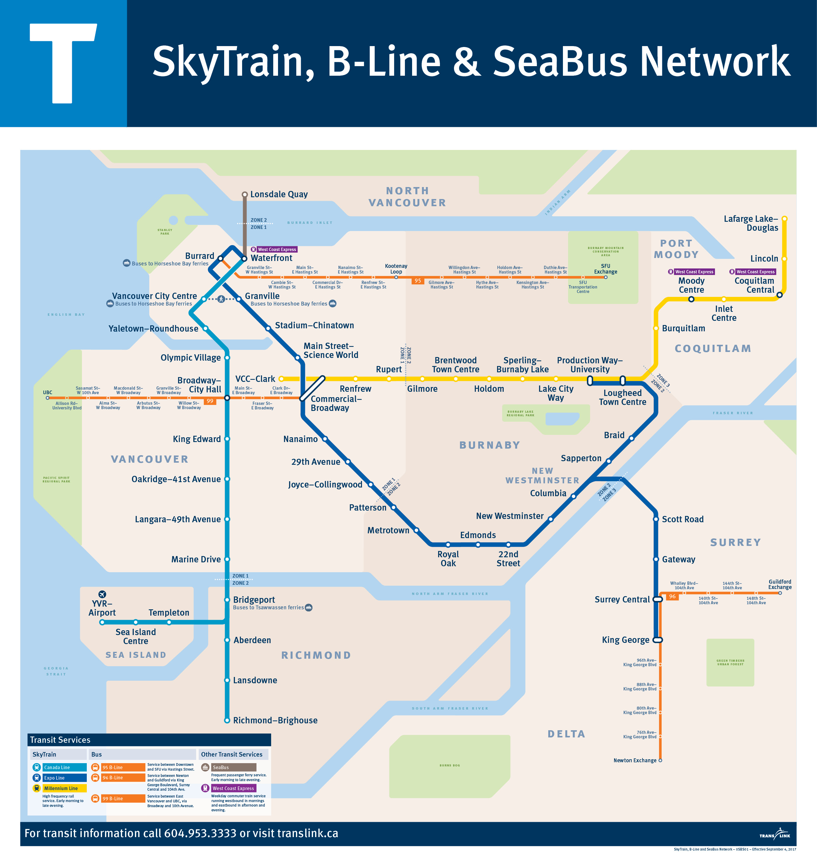 Sky Train Map The Buzzer blog » Wayfinding 101: the SkyTrain, B Line and SeaBus