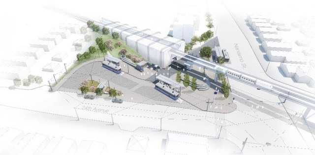 Nanaimo Bus Exchange rendering