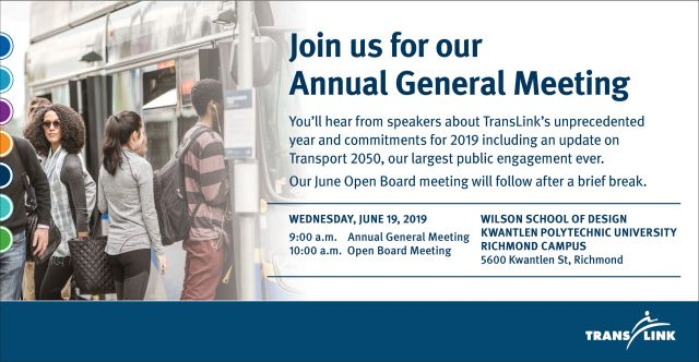 Join us in-person and online on June 19 at 9 a.m. for our Annual General Meeting!