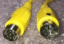 quiz game lockout cable 8-pin DIN yellow lineup