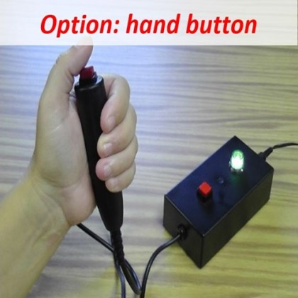 quiz box hand button clicker
