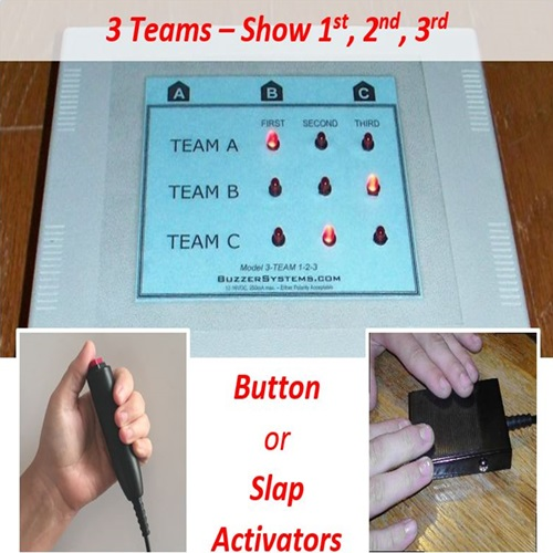 quiztron 3 team console shows order logitech logitek quiz game lockout