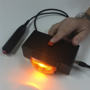 quiz lockout bright amber light button press