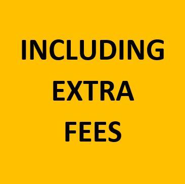 including extra fees