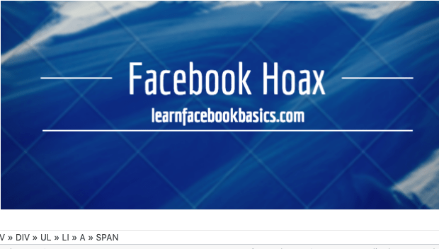 New Facebook hoax Following me...