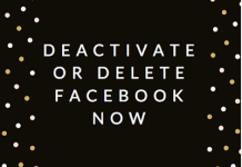 Deactivate or Delete Facebook now | How to #DeleteFacebook