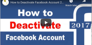 Steps to deactivate Facebook Account 2020