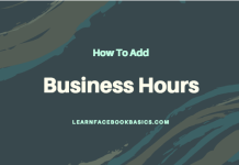 How do I add business hours to my Page on Facebook?