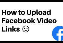How to Upload Facebook Video Links