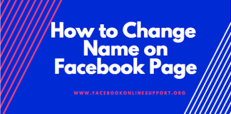 How to Change Name on Facebook Page