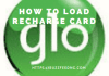 Glo Recharge Code | How to Load Glo recharge Card