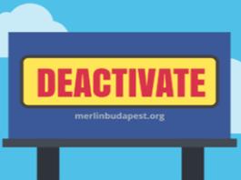 Deactivate Facebook