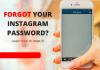 Forgot Password to Instagram