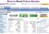 Read Yahoo Stocks