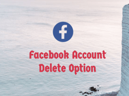 Facebook Account Delete Option - Delete Facebook Account From App