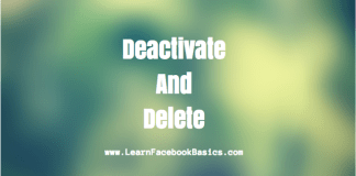 Deactivate and Delete My Facebook Account   How to Delete Or Deactivate Your Account On Facebook