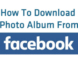 Downloading Albums From Facebook