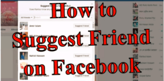How To Send Friend Suggestions On Facebook