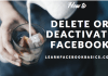 How can I deactivate Facebook Account on Mobile Phone