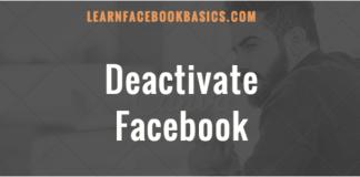 Deactivate Your Facebook Account 2017 Tutorial