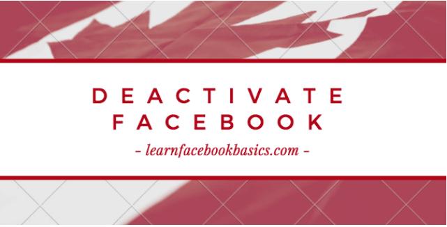 Can you temporarily deactivate Facebook?