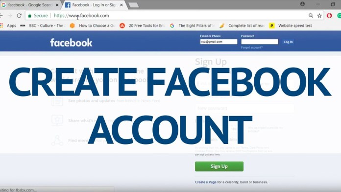 CREATE FACEBOOK ACCOUNT - HOW TO OPEN A NEW FACEBOOK ACCOUNT