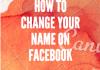 Change fb username
