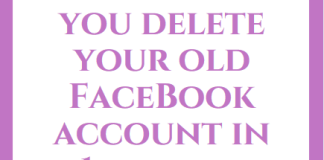 Delete your old Facebook account in seconds