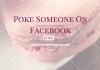 Poke someone
