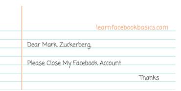 Cancel Facebook Account permanently