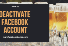 How to deactivate Facebook account | Disable Facebook account Temporarily