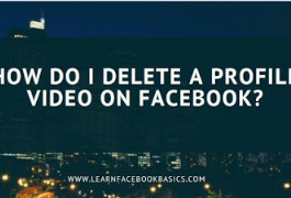 How do I delete a profile video on Facebook?