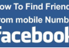 Add Facebook Friends By Phone Number