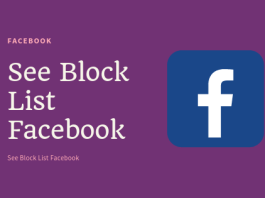 View Blocked List on Fbook