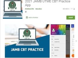 2021 JAMB UTME CBT Practice App