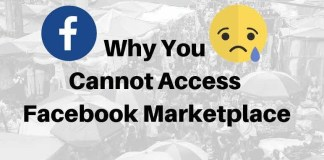 Why you can't access Facebook Marketplace