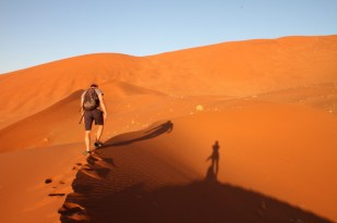 Climbing the dunes, Sossusvlei, Namibia