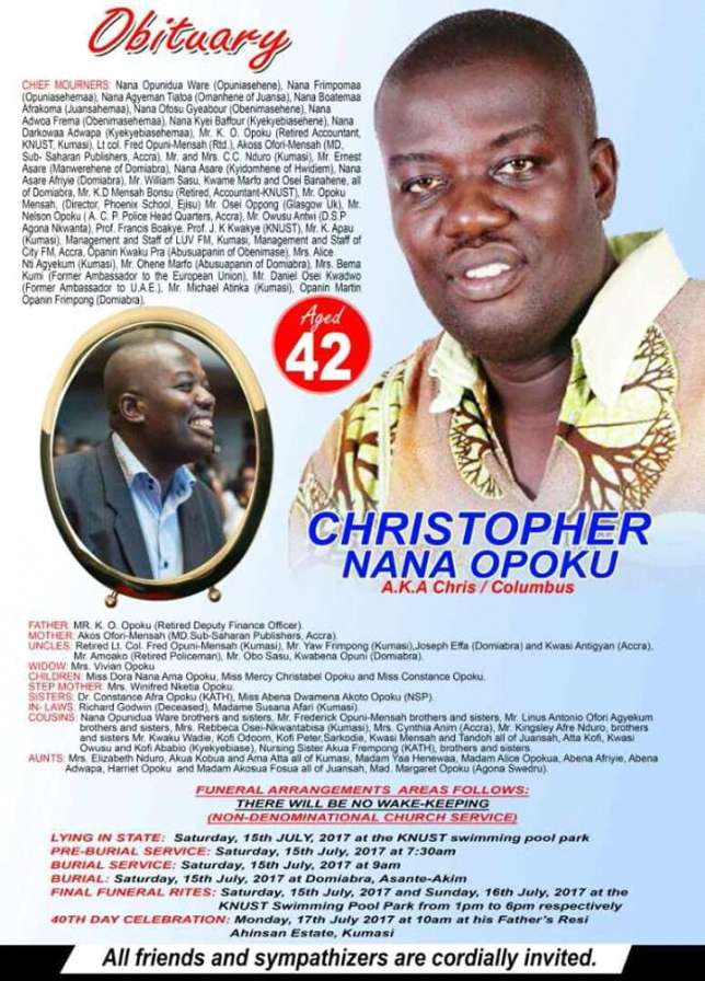 Christopher Opoku Things To Know About Late Ghanaian