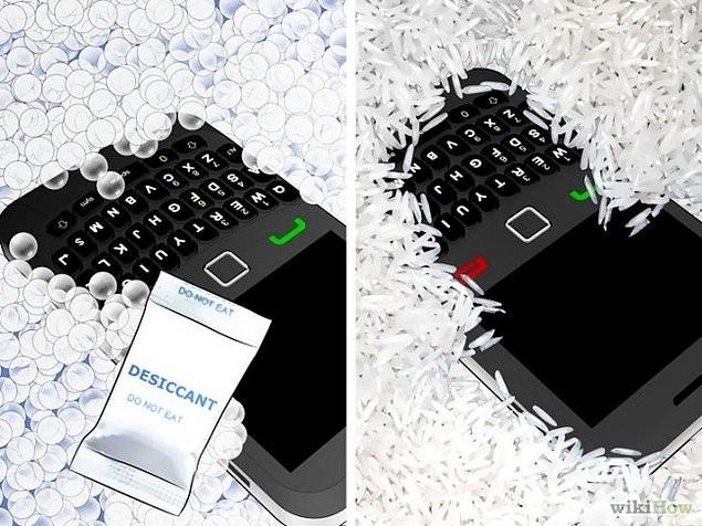 7.Telefonunuzu pirinç dolu bir poşetin içinde kurutmayı yada silika jeli* de kullanabilirsiniz.